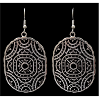 Silver Strike Ornate Earrings