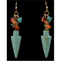 Silver Strike Turquoise Arrowhead Earrings