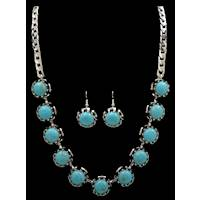 79f6aa556 Silver Strike Turquoise Earring & Necklace Set