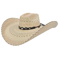 Alamo Python Campechana Palm Hat with Alamo crown