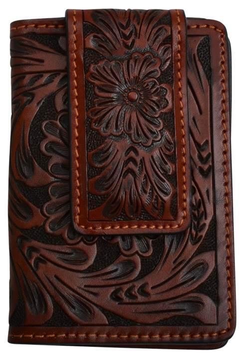 91a285e24159 3D Tan Western Money Clip