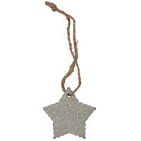 3D Ivory Star Christmas Ornament
