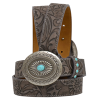 "Angel Ranch 1 1/8"" Brown Girls' Fashion Belt"
