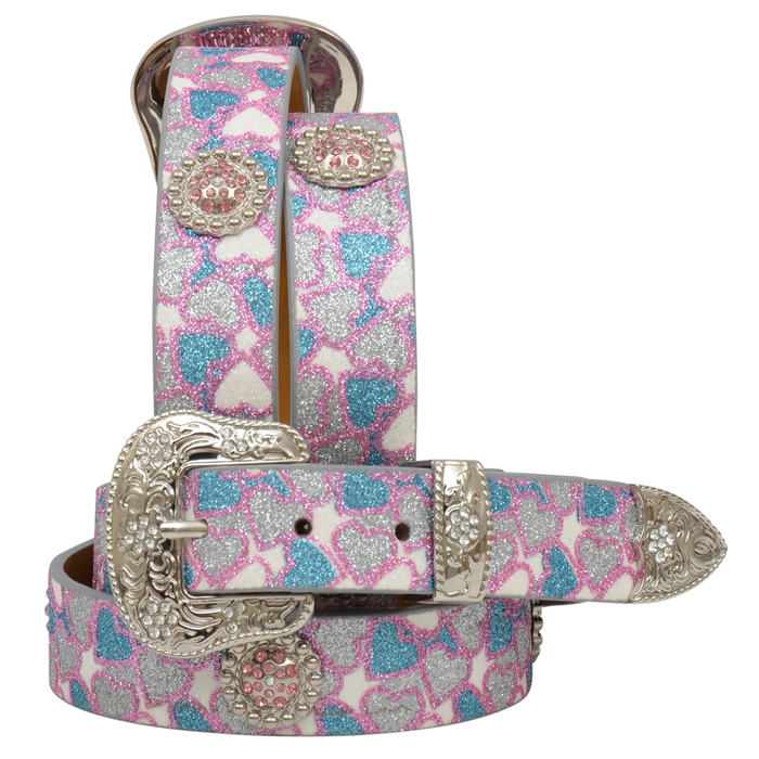 "Angel Ranch 1 1/8"" Multi-Colored Girls' Fashion Belt"