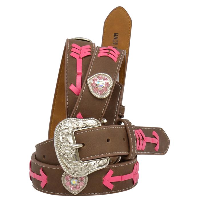 "Angel Ranch 1 1/8"" Brown Girls' Fashion Belt"