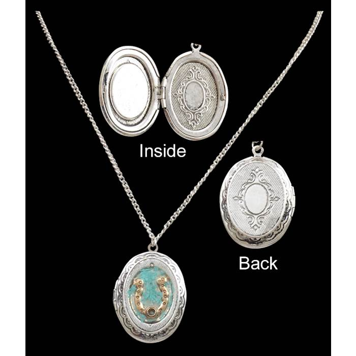 e662ac765 Silver Strike Horseshoe Locket - N0661 - 3D Belt