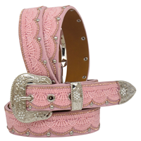"Angel Ranch 1 1/4"" Pink Girls' Fashion Belt"