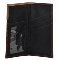 3D Brown and Turquoise Boys' Rodeo Wallet