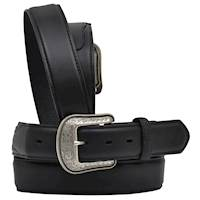 Black Waxy Full-Grain Leather Belt