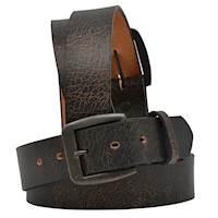 "1 1/2"" Black/Brown Crackle Leather"