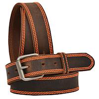 "1 1/4"" Brown Distressed W/Bright Orange"