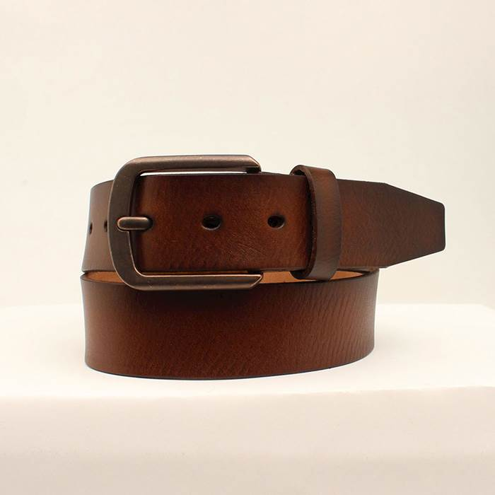 "3D Mens Belt 1 1/2"" Cognac Vegetable Leather"