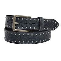 Mens Belt  1 1/2 Black Acorn Leaf