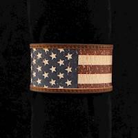 Silver Strike Bracelet Distressed Flag