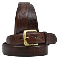 "3D 1 1/2"" Brown Men's Dress Belt"
