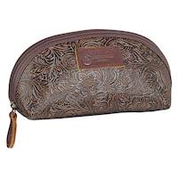 TOOLED SMALL TRAVEL BAG