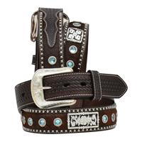 """3D 1 1/2"""" Dark Brown Men's Western Fashion Belt"""