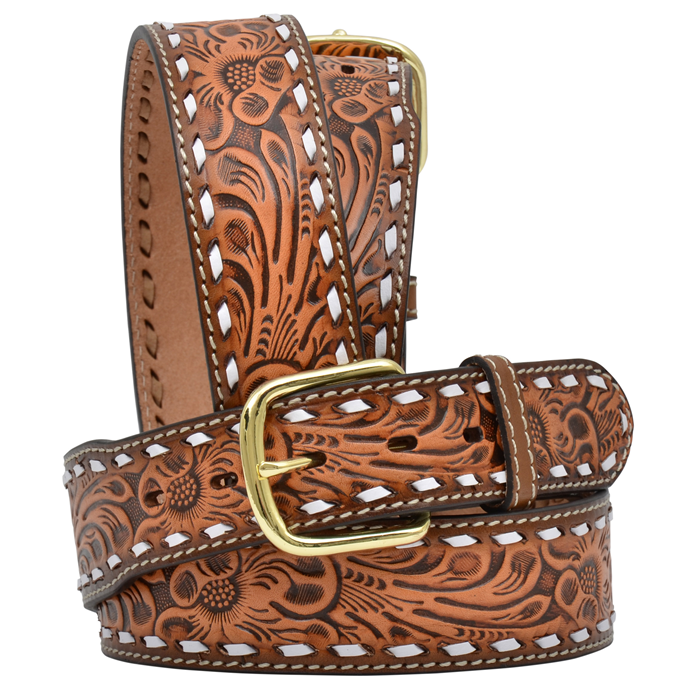 """3D 1 3/4"""" Natural Men's Western Fashion Belt"""