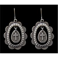 LoulaBelle Silver Cross Earrings