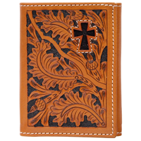 3D Natural Western Trifold Wallet