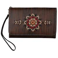 Antique Brown Leather and Multi Colored
