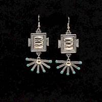 SPUR ROWEL LOOK EARRINGS