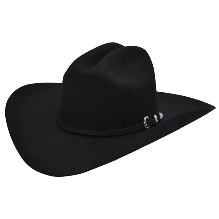 Alamo 3X Black Wool Hat with Cattleman Crown
