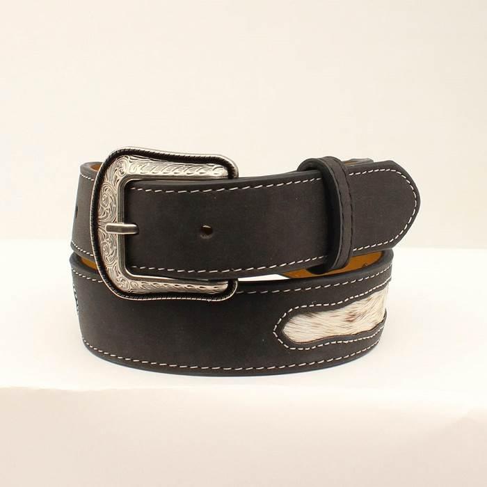 3D Boys Belt Black Western Classics Calf Hair