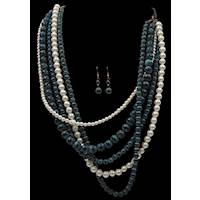 PATINA & PEARL BEAD STRANDS W/
