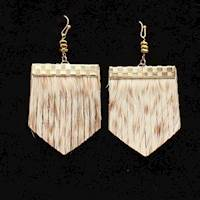 Silver Strike Earrings Brindle Hair