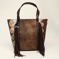 Angel Ranch Tote Conceal Carry Python Fringe Brown