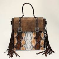 Angel Ranch BackPack CrossBody Conceal Pocket Python Brown