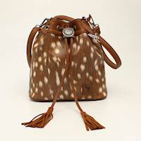 Angel Ranch Bucketbag Concealed Weapon Deer Collection Brown
