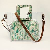 Angel Ranch Large Crossbody Cactus Collection Brown