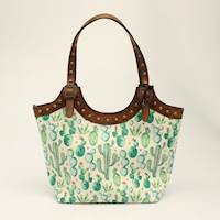 Angel Ranch Tote Concealed Weapon Cactus Collection Brown