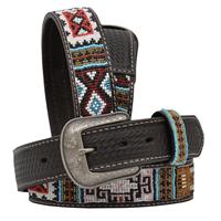 "3D 1 1/2"" Chocolate Men's Western Fashion Belt"