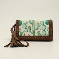 Angel Ranch Clutch Cactus Collection Brown