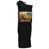 3D Black Boot Sock Mid-Calf Size X-Large