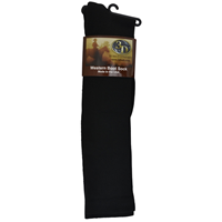 3D Black Boot Sock Over-Calf Size Large
