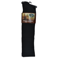 3D Black Boot Sock Over-Calf Size X-Large