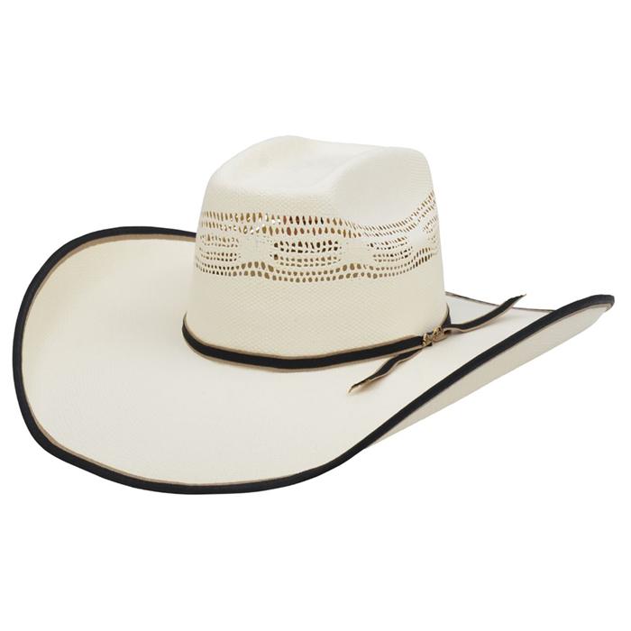 Bangora Straw Hat: Alamo 5X Bangora Straw Hat With Alamo Crown