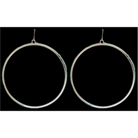 LoulaBelle Turquoise Hoops Earrings