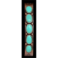 LoulaBelle Copper Turquoise Cuff Bracelet