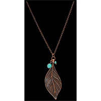 LoulaBelle Copper Leaf Necklace