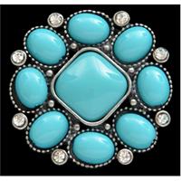 Silver Strike Turquoise Flower Ring