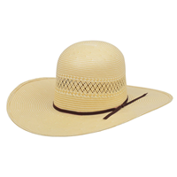 Alamo 20X Shantung Panama Straw Hat with Open Crown