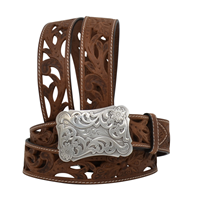 "Angel Ranch  1 1/2"" Brown Ladies' Western Fashion Belt"