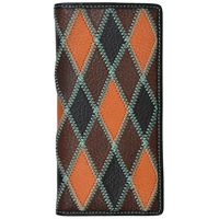 3D Multicolored Western Rodeo Wallet