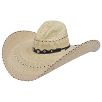 Alamo Python Campechana Palm Hat with Gus Crown