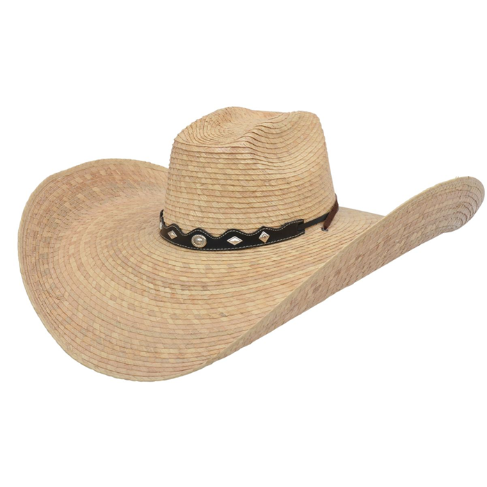 Alamo Quemada Campechana Palm Hat with Alamo Crown